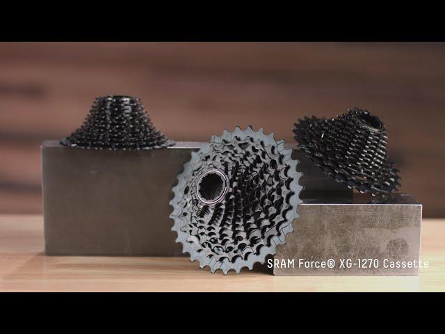 Видео Кассета Sram XG-1270 D1 Force eTap AXS 10-28T 12 speed XDR черная