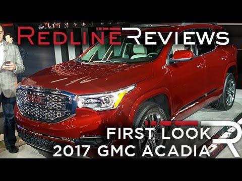 2017 GMC Acadia – Redline: First Look – 2016 Detroit Auto Show