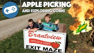 We go Apple Picking and find some Exploding Corn!