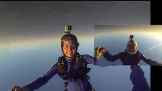 Brian and Laura Married Skydiving Team