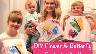 DIY Flower & Butterfly Footprint Art!!