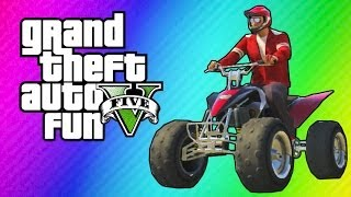 GTA 5 Online - ATV Adventure (Funny Moments, King of ATVs Mini Game, Mountain Diving)