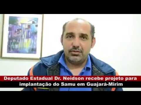 VÍDEO: DEPUTADO DR. NEIDSON RECEBE PROJETO PARA IMPLANTAÇÃO DO SAMU EM GUAJARÁ-MIRIM