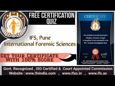 International Forensic Sciences Quiz - Answers   Government ...