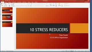 CC112 Workplace Stress Reducers
