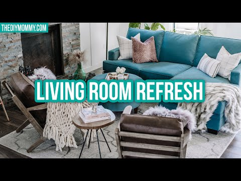 LIVING ROOM REFRESH | Painting, Custom Sofa, Sewing & More