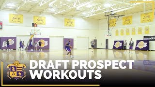 Look inside this morning's Lakers draft workouts