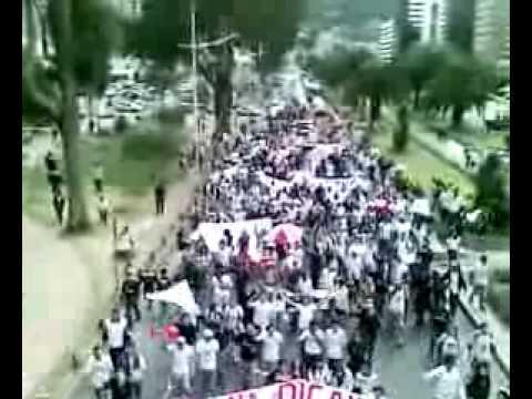 """""""Muerte Blanca Liga Vs dep quito"""" Barra: Muerte Blanca • Club: LDU"""