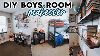 DIY BOYS ROOM MAKEOVER ON A BUDGET // 2020
