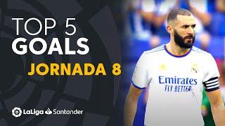 LaLiga TOP 5 Goals Matchday 8 LaLiga Santander 2021/2022