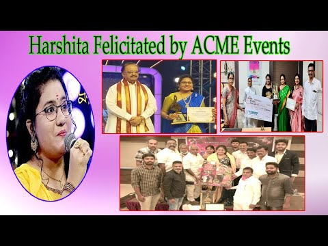 Padutha Theeyaga Harshita Winner was Felicitated by ACME Events in Visakhapatnam,Vizag Vision