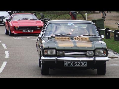 Classic Cars Leaving a Car Meet - February '17