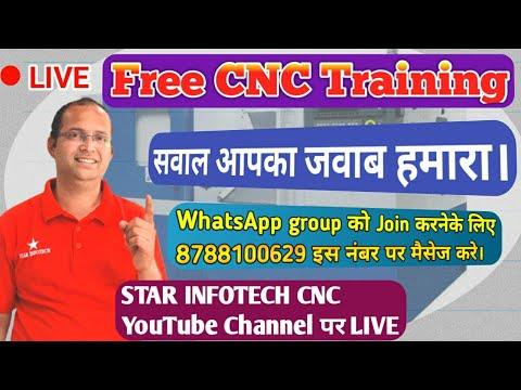 Free CNC Training / Star Infotech CNC Live - YouTube