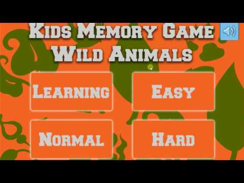 Kids Memory Games – Wild Animals Unity3D Project