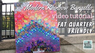 Fast & Easy Modern Rainbow Bargello Quilt Tutorial And Pattern With No Neutral Fabrics!