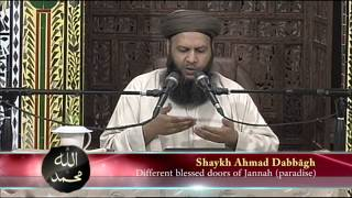 Different blessed doors of Jannah paradise