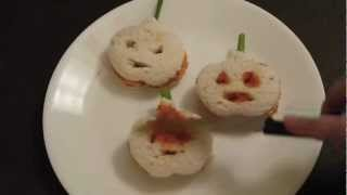 Halloween Recipe: Jack OLantern Mini Sandwiches