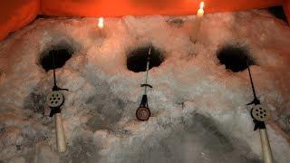 Ночная рыбалка на плотву зимой