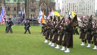 preview picture of video 'Cameron Highlanders Ottawa 2010 Flag Raising.mpg'