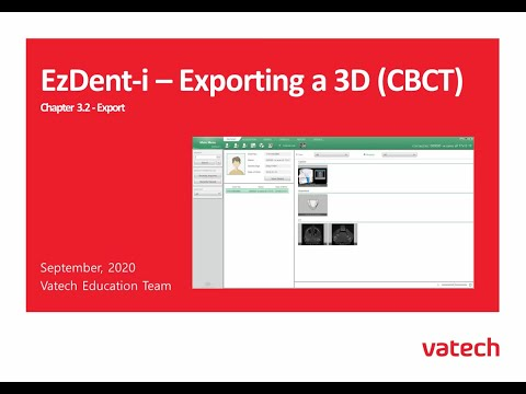 Exporting a 3D (CBCT)