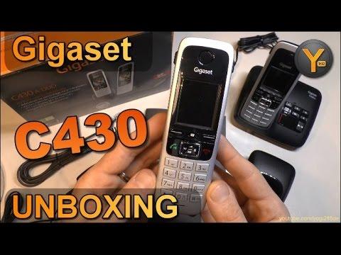 Unboxing/First Look: Gigaset C430 / C430A DECT Schnurlos-Telefon mit Anrufbeantworter