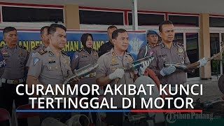 Laporan Curanmor di Padang, Kapolresta Padang Sebut 65 Persen Gara-gara Kunci Tertinggal di Motor