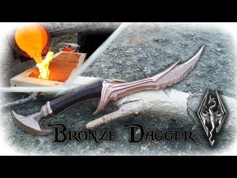 Casting a Bronze Dagger From The Game Skyrim (Daedric Dagger)