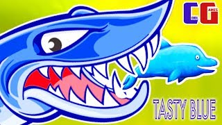 Tasty Blue #6 РЫБА МОНСТР охотится на ДЕЛЬФИНА Мульт игра для детей про Рыбку Обжору СЪЕСТЬ ОКЕАН