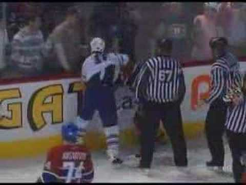 Josh Gorges vs. Darcy Tucker