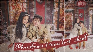 Taking Photos For My CHRISTMAS MINI Session Ad - New Holiday Studio BACKDROPS