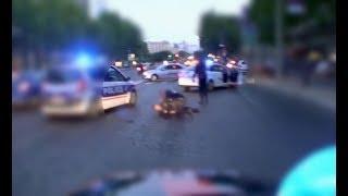POLICIER RENVERSÉ : COURSE POURSUITE INTENSE