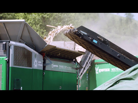 Komptech Crambo Shredder and Multistar Star Screen With Overs Return
