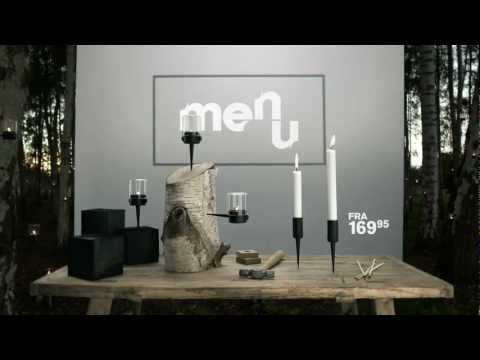 Youtube video about the Menu Pipe Candle Holder