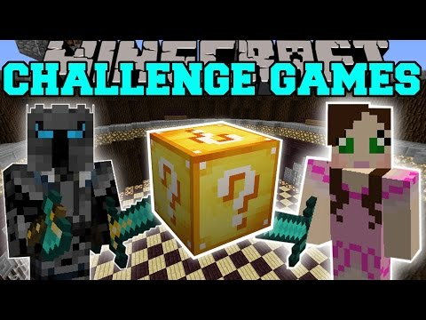 Minecraft: PAT VS JEN CHALLENGE GAMES - Lucky Block Mod - Modded Mini-Game