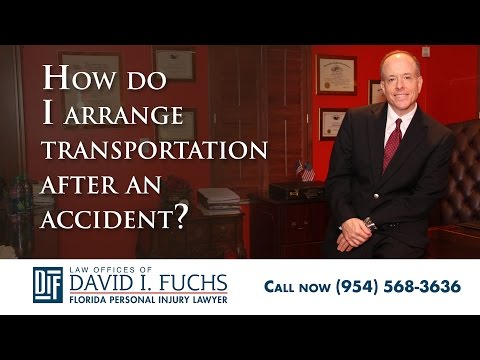How Do I Arrange Transportation After a Car Accident in South Florida?