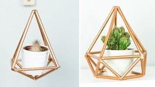 Geometrische Blumenampel ฟร ว ด โอออนไลน ด ท ว ออนไลน คล ป