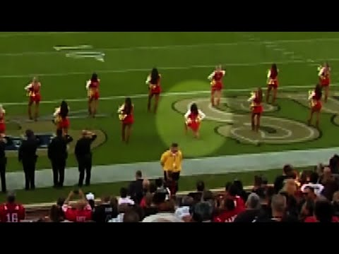 Google News - 49ers cheerleader takes knee during anthem - Overview c9fd3b6a8