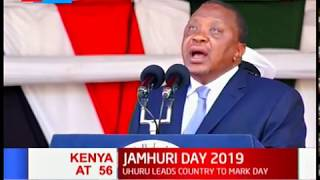President Uhuru assures Kenyans his government will eradicate poverty, improve food security