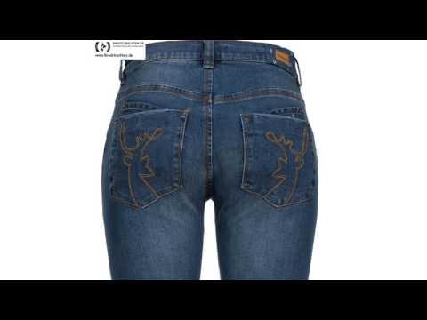 Finest-Trachten.de: Lange Jeans-Lederhose Chiemgau in Blau von Hammerschmid
