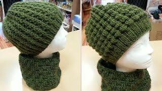 Cappellino ai ferri uomo donna - Tutorial cuffia unisex double face - punto  nocciolina ai efc9a4d55b5