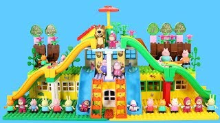 Peppa Pig Building Blocks House Lego Toys For Kids - Lego Duplo House Creations Toys #9