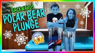 BACKWARDS POLAR BEAR PLUNGE! | We Are The Davises