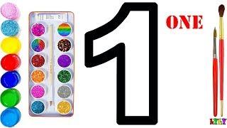 Dạy Bé Học Vẽ | dạy bé học vẽ chữ số | Vẽ và tô màu chữ số | Bé học chữ số | Lyly Toy Art