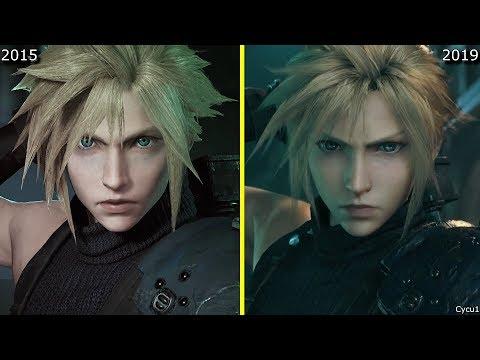 《最終幻想7 重製版》2015年與2019年演示對比