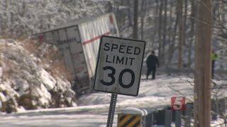 Trucks Stuck For Days Following Snowstorm