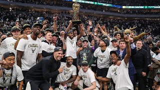 NBA Championship Trophy Presentation | Giannis Antetokounmpo is the NBA Finals Most Valuable Player