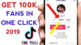 TikTok Unlimited 100K Fans And Likes in 2 minutes | Tik Tok