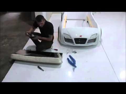Autobett Aufbauanleitung Kinderbett Montage Turbo V8