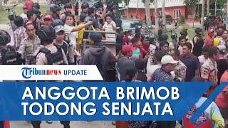 Viral Video Detik-detik Anggota Brimob Todongkan Senjata ke Warga, Ini Kata Saksi Mata