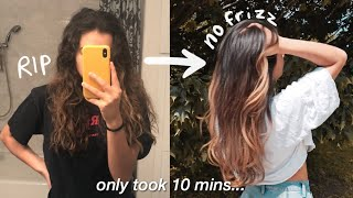 how to tame your FRIZZY hair